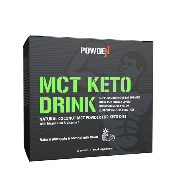 MCT Keto Drink with natural coconut MCT powder