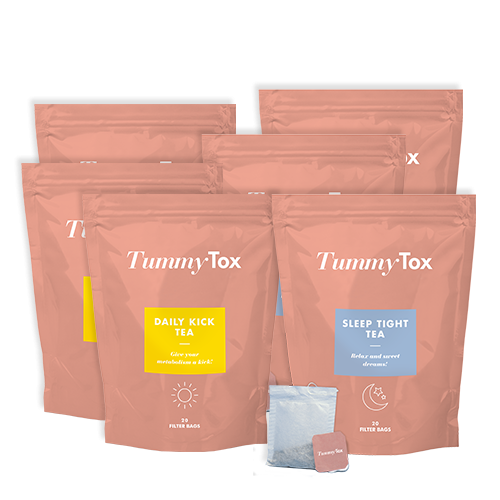 Daily Kick & Sleep Tight Tea 1+2 Gratis