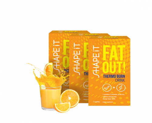 Fat Out! THERMO BURN DRINK 3x