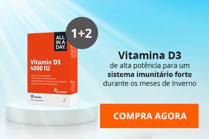 OFERTA Vitamina D3 4000 IU: Compra 1 e recebe 3!
